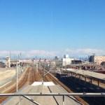 今日の高岡駅。立山が綺麗です‼(´▽`*)